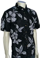 Billabong Pukalani Floral SS Button Down Shirt - Black