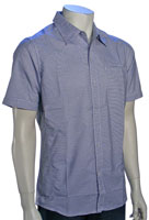 Quiksilver Neck Punch SS Button Down Shirt - Blue