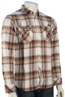 Quiksilver Foundation LS Button Down Shirt - Light Grey