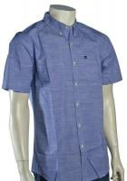 Quiksilver Trig SS Button Down Shirt - Classic Blue
