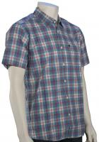 Quiksilver Everyday Checks SS Button Down Shirt - Niagara