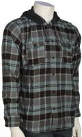 Quiksilver Fellow Player LS Button Down Flannel Shirt - Tarmac