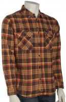 Quiksilver Best Tang LS Button Down Flannel Shirt - Outback Aura Tarmac