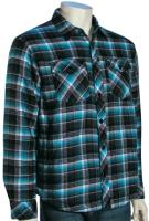 Hurley Fortworth LS Button Down Shirt - Black / Blue