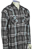 Hurley Jag LS Button Down Shirt - Concrete