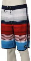 O'Neill Hyperfreak Heist Scallop Boardshorts - Red / White / Blue