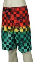 Vans Off The Wall Checkered Boardshorts - Rasta Scan