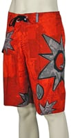 Volcom Bruce Star Collage Boardshorts - Red