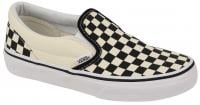 Vans Classic Slip On Kids Shoe - Black and White Checkerboard