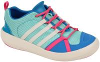 Adidas Boat Lace Kids Shoe - Mint / Chalk / Pink