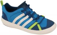 Adidas Boat Lace Kids Shoe - Solar Blue / Chalk