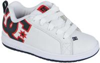 DC Court Graffik Youth Shoe - White / Black / Athletic Red