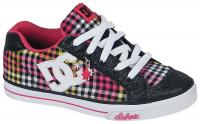 DC Chelsea Charm Youth Shoe - Black / Crazy Pink / Yellow