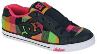 DC Chelsea TX Youth Shoe - Black / Pink / Soft Lime