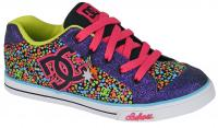 DC Chelsea Charm Youth Shoe - Black / Fuchsia