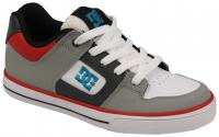 DC Pure Youth Shoe - Grey / Black / Red