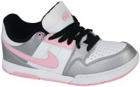 Nike 6.0 Women's Air Morgan Shoe - Metallic Silver / White / Pink