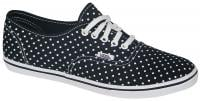 Vans Authentic Lo Pro Shoe - Polka Dot Black / White