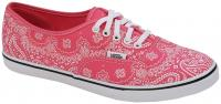 Vans Authentic Lo Pro Women's Shoe - Pink Bandana / True White