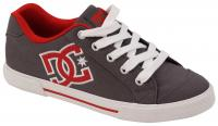 DC Women's Chelsea Shoe - Grey / Dark Red