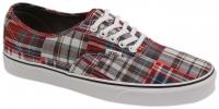 Vans Authentic Shoe - Plaid Patchwork Red
