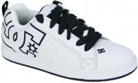 DC Court Graffik Shoe - White / Black / White