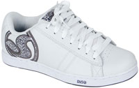 DVS Vendetta Shoe - White Leather Print
