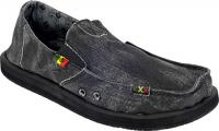 Sanuk Kingston Sidewalk Surfer - Black Rasta