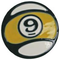 Sector 9 9-Ball Belt Buckle - Yellow / White