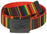 Vans Reverse Web Belt - Rasta Stripe / Red