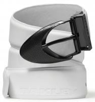 Oakley Signature Ellipse Leather Belt - White