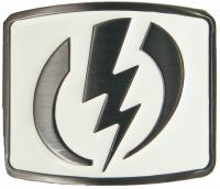 Electric Volt Belt Buckle - White