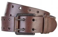 Nixon Double Wide Belt - Dark Brown