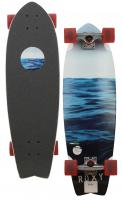Roxy Vague Longboard Skateboard - Red