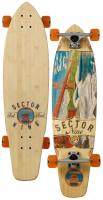 Sector 9 Fort Point Longboard Skateboard - Orange