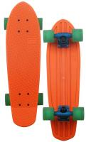 Globe Bantam Longboard - Orange / Horizon / Clear Green