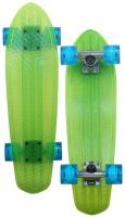 Globe Bantam Longboard - Lime / Raw / Light Blue