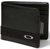 Oakley Dry Goods Leather Wallet - Black