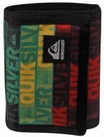 Quiksilver Compiled S Wallet - Comp Word Stripe Black