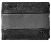 Nixon Pass Bi-fold ID Wallet - Black / Charcoal