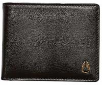 Nixon Pass Leather Bi-fold ID Wallet - Brown