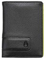 Nixon Showup Card Wallet - Black / Lime