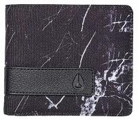 Nixon Showdown Bi-fold Wallet - Marbled Black Smoke