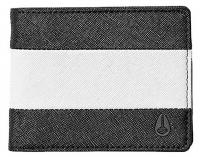 Nixon Escape Bi-fold Clip Wallet - Black / White / Black