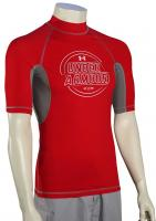 Under Armour Ames SS Rash Guard - Red