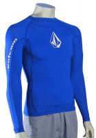 Volcom Solid LS Rash Guard - Electric Blue