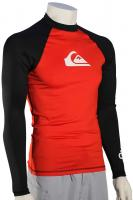 Quiksilver All Time LS Rash Guard - Red / Black / White