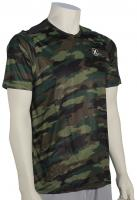 Hurley Dri-Fit Camo SS Surf Shirt - Deepest Green