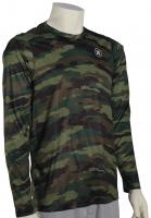 Hurley Dri-Fit Camo LS Surf Shirt - Deepest Green
