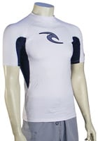 Rip Curl Classic Wave SS Rash Guard - White / Light Grey